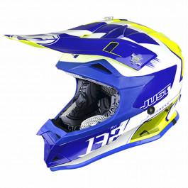 JUST1 Helmet J32 PRO KIDS Kick White-Blue-Yellow 48-YS