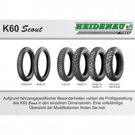 K60SCOUT 140/80-18 70S