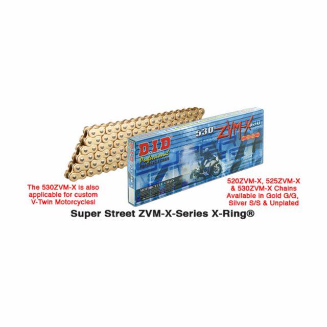 Kedja 520 ZVM-X Street Guld D.I.D