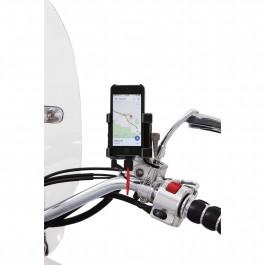 Mobil/GPS-Hållare för spegelmontering ink. laddning CIRO