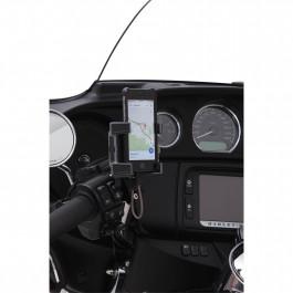 Mobil/GPS-Hållare till Harley-Davidson 84‑17 modeller, ej 14‑17 FLHX inkl. laddning CIRO