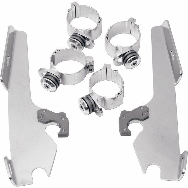 Batwing Trigger-Lock Monteringssats Silver MEMPHIS SHADES