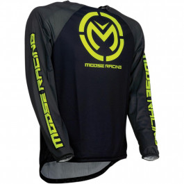 MOOSE RACING Crosströja M1 Svart/Neongul