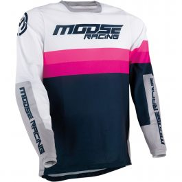 MOOSE RACING Crosströja Sahara Navy/Vit/Magenta