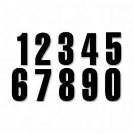 NUMBERS #0-9 13X7CM BK