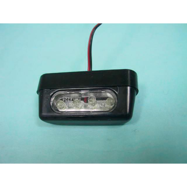 Nummerplåtsbelysning Classic LED Svart Parts Europe