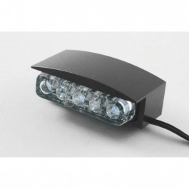 Nummerplåtsbelysning Mini LED Svart Parts Europe