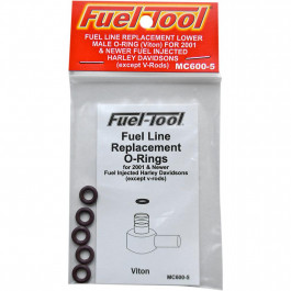 O-RING FUEL LINE MALE 5PK