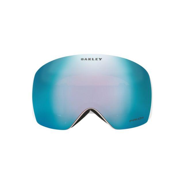 Oakley Skoterglasögon Flight Deck Matte White / Prizm Snow Sapphire Iridium Vit/Blå