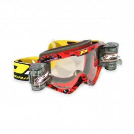 PRO GRIP Crossglasögon 3458 Race Pack Röd - Klar