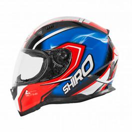 SHIRO Integralhjälm SH-881 Motegi Röd/Blå