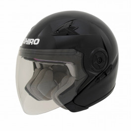 Shiro Jet helmet SH-55 solid Black 56-S
