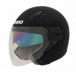 Shiro Jet helmet SH-55 solid Matt Black 54-XS