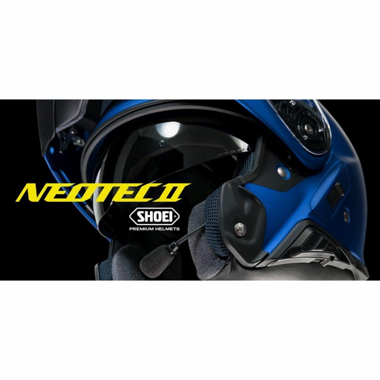 Shoei Öppningsbar Hjälm Neotec 2 Plain Svart - Motoaction 02c55344c7191