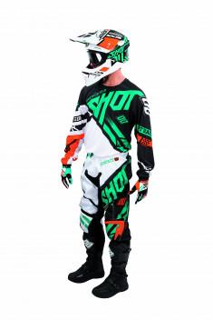 SHOT Crosskläder Contact Raceway 2016 Orange/Mint