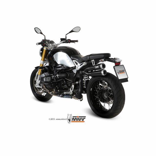 SLIP-ON X-Cone Black Steel MIVV