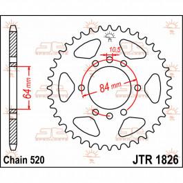 SPROCKET REAR 520 37T