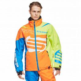 Sweep Skoterjacka Racing Division Orange/Blå/Gul