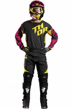 THOR Crosskläder FUSE AIR DAZZ 2017 Magenta/Gul