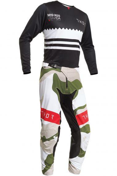 THOR Crosskläder Prime Pro Baddy Svart/Vit/Grön