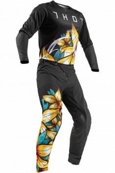 THOR Crosskläder Prime Pro Floral Svart/Gul