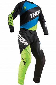 THOR Crosskläder Sector Shear Svart/Blå/Grön