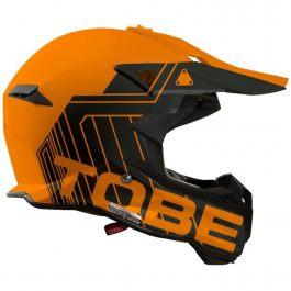 Tobe Skoterhjälm Terminator Stripe Orange/Svart