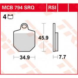 TRW Bromsbelägg FRAM RSI Racing Sinter