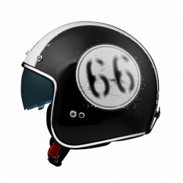 VEMAR Öppen Hjälm Chopper 66 Glitter/Mattsvart